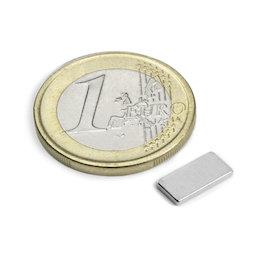 Q-10-05-1.2-N, Bloque magnético 10 x 5 x 1,2 mm, neodimio, N50, niquelado