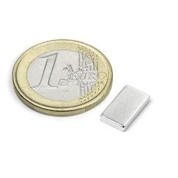 Q-12-07-02-HN, Bloque magnético 12 x 7 x 2 mm, neodimio, 44H, niquelado