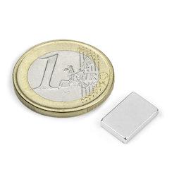 Q-12-08-02-N, Bloque magnético 12 x 8 x 2 mm, neodimio, N50, niquelado