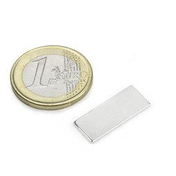 Q-22-8.5-1.4-SHN, Bloque magnético 22 x 8,5 x 1,4 mm, neodimio, 35SH, niquelado