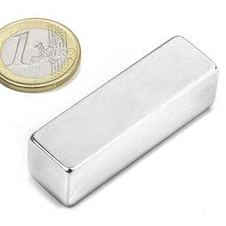 Q-50-15-15-N, Bloque magnético 50 x 15 x 15 mm, neodimio, N48, niquelado