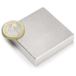 Q-50-50-12.5-N, Bloque magnético 50 x 50 x 12,5 mm, neodimio, N35, niquelado