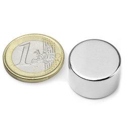 S-20-12-N, Disco magnético Ø 20 mm, alto 12 mm, neodimio, N42, niquelado