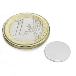 S-13-01-N, Disco magnético Ø 13 mm, alto 1 mm, neodimio, N45, niquelado