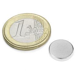 S-12-02-N, Disco magnético Ø 12 mm, alto 2 mm, neodimio, N45, niquelado