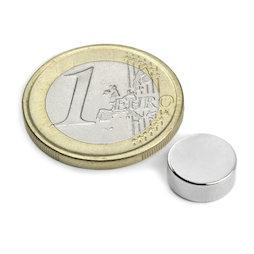 S-10-04-N, Disc magnet Ø 10 mm, height 4 mm, neodymium, N42, nickel-plated