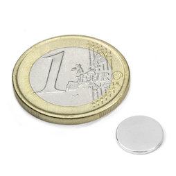 S-10-1.5-N52N, Disco magnético Ø 10 mm, alto 1,5 mm, neodimio, N52, niquelado