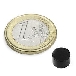 S-08-05-E, Disco magnético Ø 8 mm, alto 5 mm, neodimio, N45, con recubrim. epoxi