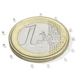 S-01-01-N, Disco magnético Ø 1 mm, alto 1 mm, neodimio, N45, niquelado