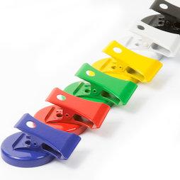 LIV-122, Pinzas magnéticas de colores, de ferrita, 6 uds.