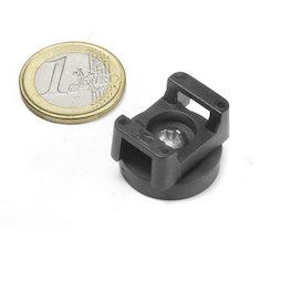 CMN-22, imán en recipiente de goma, para cableados, Ø 22 mm