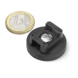 CMN-31, imán en recipiente de goma, para cableados, Ø 31 mm