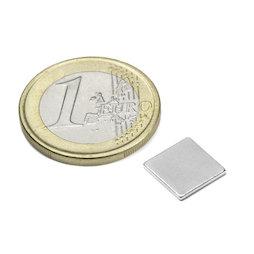 Q-10-10-01-N, Bloque magnético 10 x 10 x 1 mm, neodimio, N42, niquelado