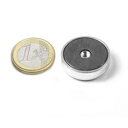 ITF-25, Imanes en recipiente de ferrita con rosca interior M4, Ø 25 mm