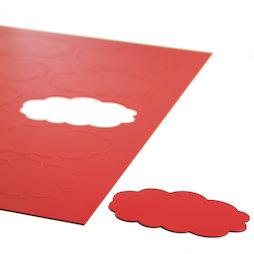 BA-014CL/red, Nubes magnéticas, para pizarras blancas y de planificación, 10 símbolos por hoja A4, rojo