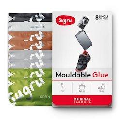 SUG-08/mixed4, Sugru, pack de 8 uds., pegamento moldeable, 2x verde, 2x marrón, 2x gris, 1x negro, 1x blanco, paquetes de 5 g