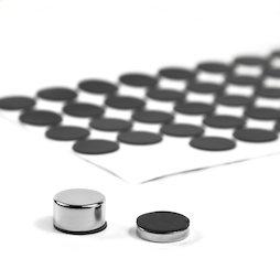 M-SIL-15, Discos de silicona Ø 15 mm, adhesivos, 60 unidades por set