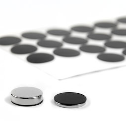 M-SIL-20, Discos de silicona Ø 20 mm, adhesivos, 36 unidades por set