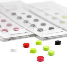 LIV-44, Steely, imanes de neodimio de colores, 10 uds., 6 x 3 mm de tamaño