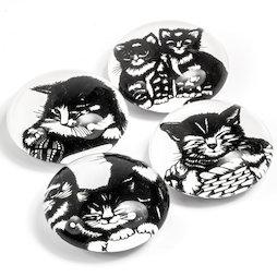 LIV-139, Gatitos, imanes decorativos con motivos de gatos, 4 uds.