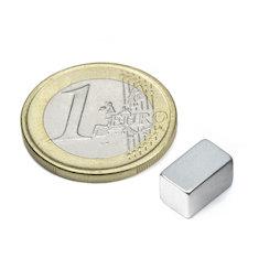 Q-10-06-06-Z, Bloque magnético 10 x 6 x 6 mm, neodimio, N45, galvanizado