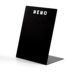 MB-21, Panel de notas MEMO negro, de metal recubierto de polvo
