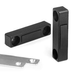 M-FURN-03, Herraje magnético delgado para muebles, de metal, con contraplaca