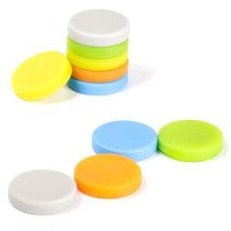 M-95, Imanes revestidos de silicona, adhesión por ambas caras, 10 uds., diferentes colores
