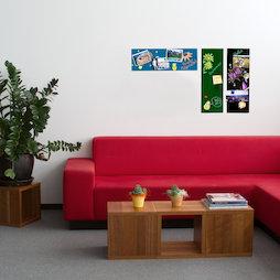 GMBB-2060, Panel de notas cristal rectangular, 20 x 60 cm, en diferentes colores