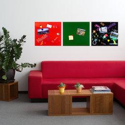 GMBB-4550, Panel de notas cristal cuadrado, 45 x 50 cm, en diferentes colores