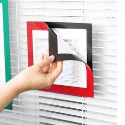 QMS-A5-STIC, Marco magnético adhesivo A5, para colgar notas, formato A5