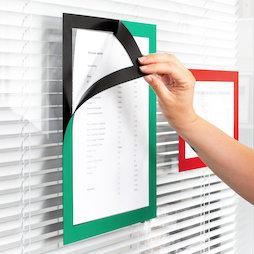 QMS-A4-STIC, Marco magnético adhesivo A4, para colgar notas, formato A4