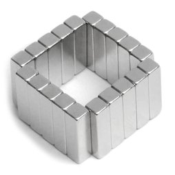 Q-15-04-04-MN, Bloque magnético 15 x 4 x 4 mm, neodimio, 45M, niquelado