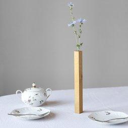 LIV-34, Vaso magnetico quercia, vaso in legno di quercia, aderisce magneticamente su una lastra metallica, in confezione regalo