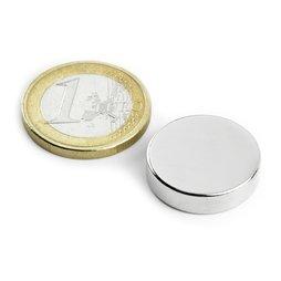 Disco magnético Ø20mm, alto5mm