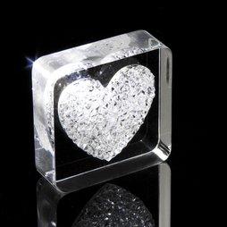 LIV-38, Diamond Heart, aimant pour réfrigérateur cœur, avec des cristaux Swarovski