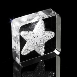 LIV-40, Diamond Star, imán de nevera «Estrella», con cristales Swarovski
