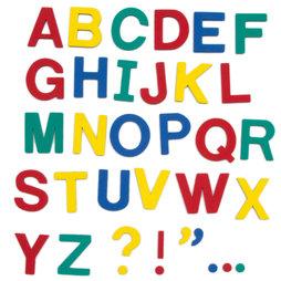 M-38/cap, Letras magnéticas, aprox. 100 letras y signos de puntuación, de espuma EVA, 4 colores mezclados