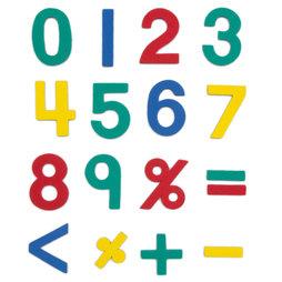 M-38/num, Números magnéticos, aprox. 100 números y signos matemáticos, de espuma EVA, 4 colores mezclados