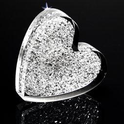 LIV-55, Corazón brillante, potente imán de nevera, con cristales Swarovski