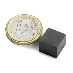 FE-Q-12-12-10, Bloque magnético 12 x 12 x 10 mm, ferrita, Y35, sin revestimiento