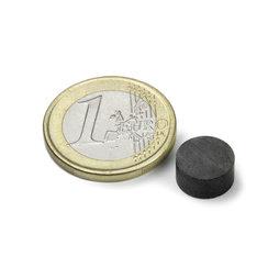 FE-S-10-05, Disco magnético Ø 10 mm, alto 5 mm, ferrita, Y35, sin revestimiento