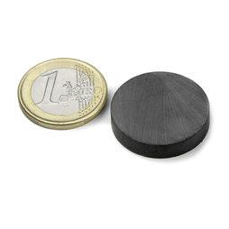 FE-S-25-05, Disco magnético Ø 25 mm, alto 5 mm, ferrita, Y35, sin revestimiento