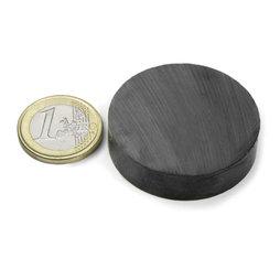 FE-S-40-10, Disco magnético Ø 40 mm, alto 10 mm, ferrita, Y35, sin revestimiento