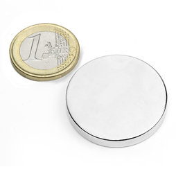 S-35-05-N, Disco magnético Ø 35 mm, alto 5 mm, neodimio, N42, niquelado