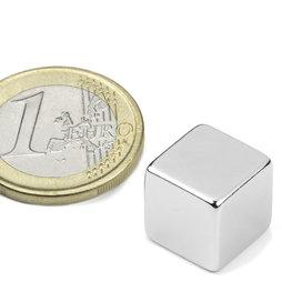 W-12-N, Cubo magnético 12 mm, neodimio, N48, niquelado