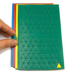 BA-012T, Magnetische symbolen driehoek klein, voor whiteboards & planborden, 180 symbolen per vel, in verschillende kleuren