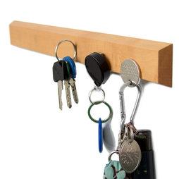 FO-3, Portallaves magnético 32 cm, barra magnética, de madera de peral, para 6 llaves