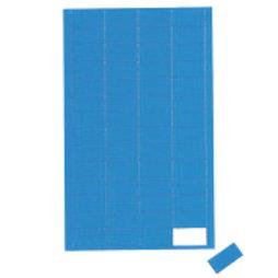 BA-012R/blue, Rectángulos magnéticos pequeños, para pizarras blancas y de planificación, 56 símbolos por hoja, azul