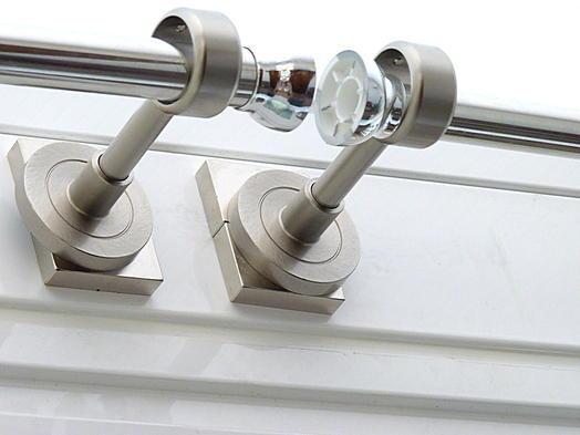 Aplicaciones magn ticas fijar barras para cortinas sin for Soportes para colgar cortinas